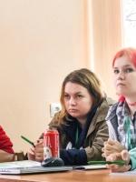 Команда НГУ, слева Михаил Лебедев и Дарья Черникова