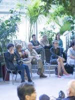 Слушатели в зимнем саду Дома ученых